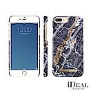 iDeal iPhone 8/7/6 plus 瑞典大理石紋手機保護殼-挪威蓋倫格藍金
