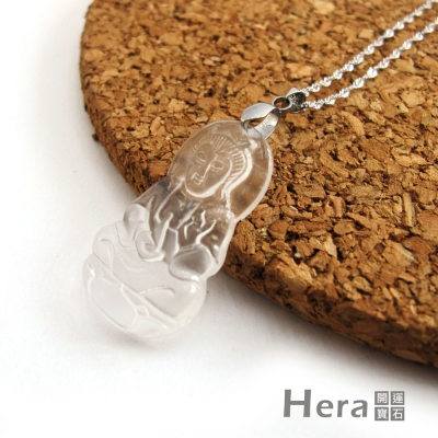 Hera頂級冰種水沬玉寶瓶觀音項鍊