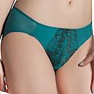 思薇爾 香榭玫瑰系列M-XL蕾絲低腰三角內褲(碧瓷綠)