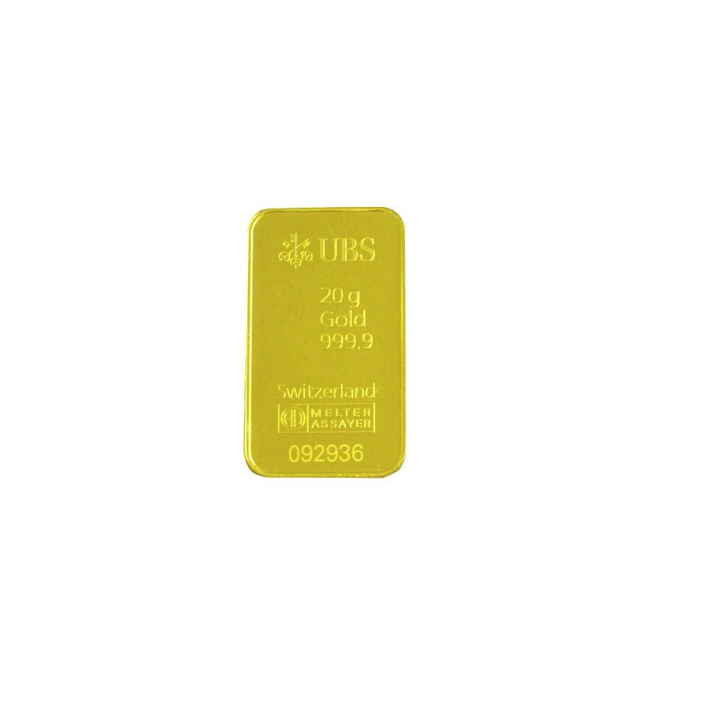 『限時89折』UBS kinebar-黃金條塊 (20公克)