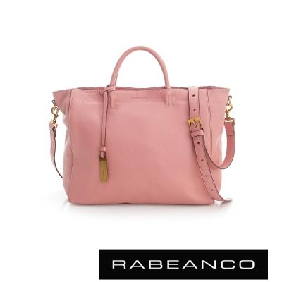 RABEANCO 迷時尚系列優雅兩用小手提包(大) - 粉紅奶