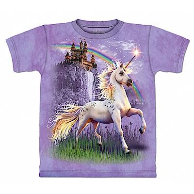 摩達客 美國進口The Mountain 獨角獸城堡 純棉環保短袖T恤