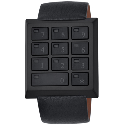 CLICK SAFE WATCH萬能鑰匙電子密碼錶-全黑/ 40 mm