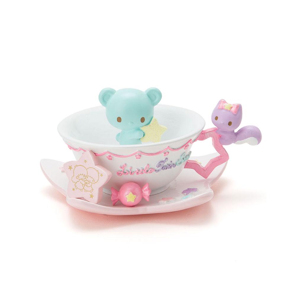Sanrio 雙星仙子40週年幻彩茶會系列茶杯造型樹脂飾品盤