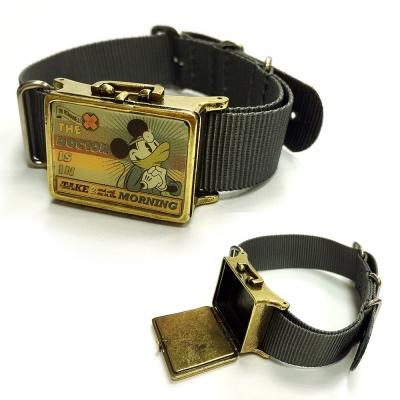 迪士尼 DISNEY COUTURE 聯名 Dr. Romanelli 米奇午餐盒灰色手環