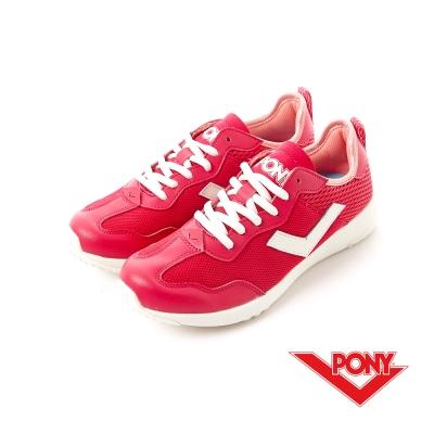 【PONY】SOHO+系列-輕甜休閒鞋-女性-桃紅