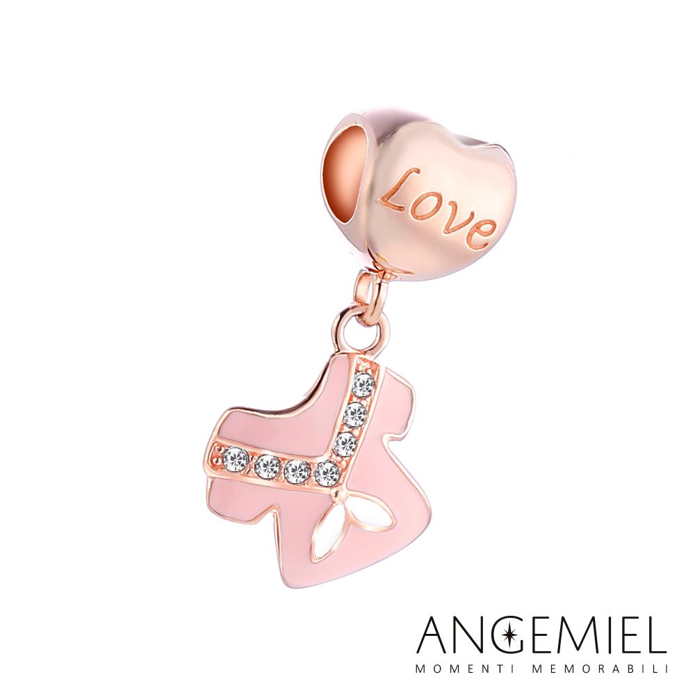Angemiel安婕米串珠 925純銀吊飾 Dream童話系列 粉紅水手服