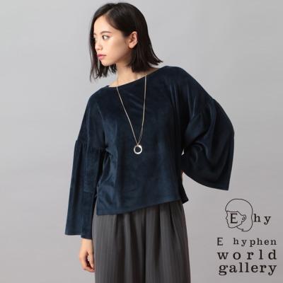 E hyphen 圓領造型寬袖設計感上衣