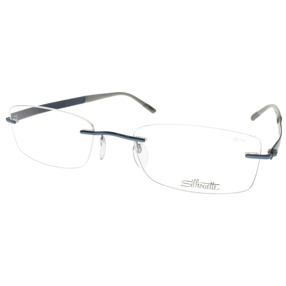 Silhouette詩樂眼鏡 別緻無框/珠光藍 #ST7773 C6057