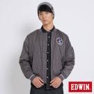 EDWIN 太空競賽MA1鋪棉外套-男-灰色