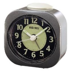 SEIKO 精工 嗶嗶聲 靜音 鬧鐘(QHE121N)-灰/7.3X7.2cm