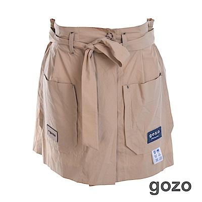 gozo 水洗貼標外口袋短褲(二色)