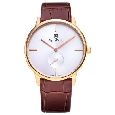 Olym Pianus奧柏表  簡約風尚小秒針時尚腕錶/40mm