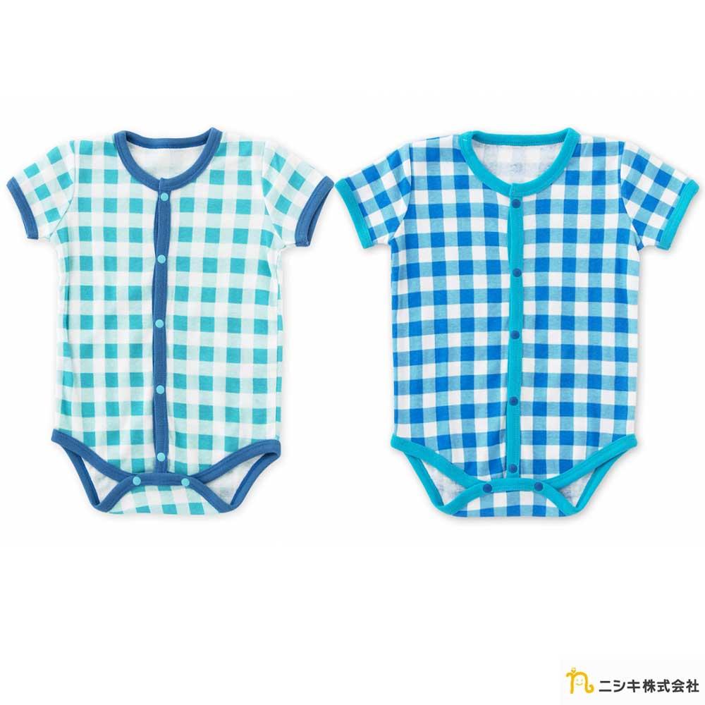 Nishiki 日本株式會社 夏日格紋短袖包屁衣