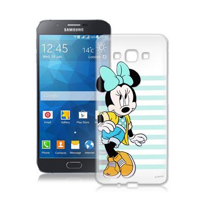 迪士尼Samsung Galaxy A8 A800YZ街頭透明軟式手機殼(俏米妮...
