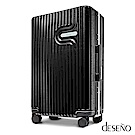 Deseno 棉花糖-24吋PC鏡面細鋁框行李箱(黑色)