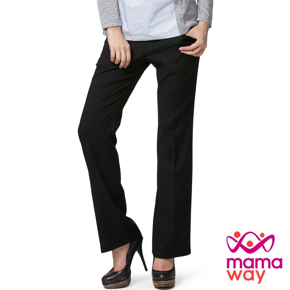 Mamaway 孕期OL美腿西裝長褲.孕婦褲