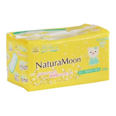 日本Naturamoon 天然棉衛生棉量多日用23.5cm-18枚(HK-NM1875)