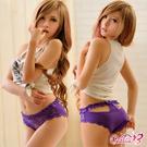內褲 溫柔造型美臀內褲(紫)  Caelia