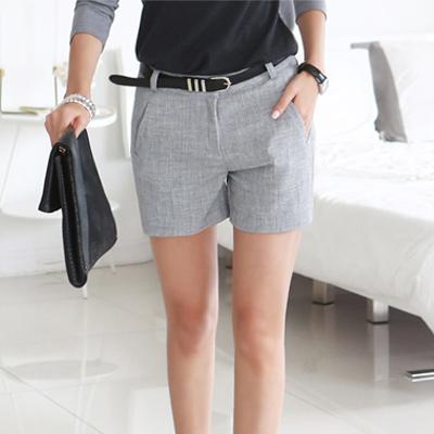 正韓 修飾線條簡約質感短褲 (共二色)-N.C21