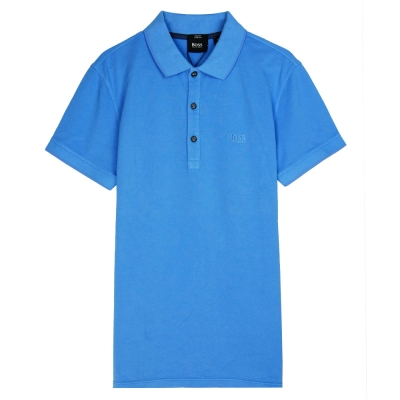 HUGO BOSS 黑標素面POLO男衫(藍)