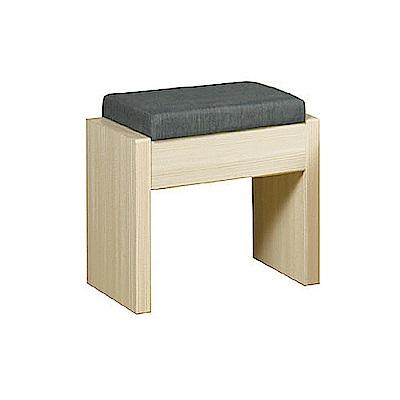 AS-亞力士洗白色化妝椅-44x30x46cm