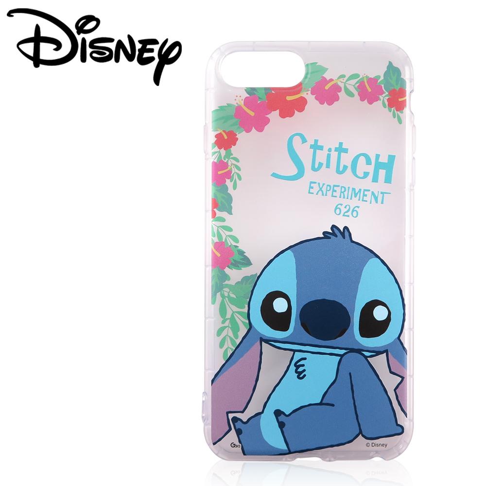 Disney迪士尼iPhone 6/6s/7 Plus共用防摔氣墊空壓保護套_賞花史迪奇
