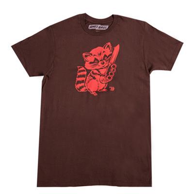 【kitson】Ames Bros hooligan 浣熊 /圓領短袖男T恤(choco)