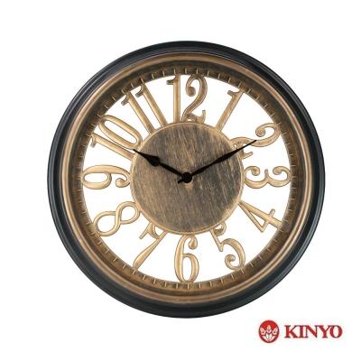 KINYO 12吋復古華麗風靜音掛鐘CL-149)