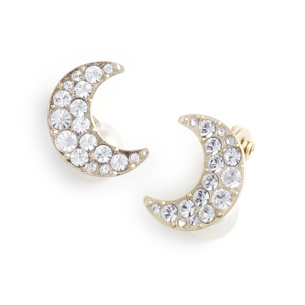 JewCas Air Earrings系列月亮水晶空氣耳夾_JC2512 @ Y!購物