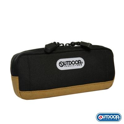 OUTDOOR-復古學院皮底筆袋-黑-ODS130239BK