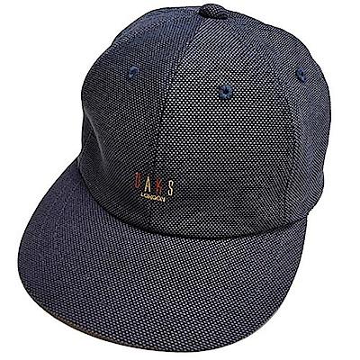 DAKS 經典字母刺繡LOGO造型棒球帽(藍色系)
