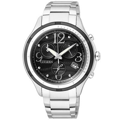 CITIZEN Eco-Drive 浪漫銀河輕時尚腕錶(FB1377-51E)-黑/38mm