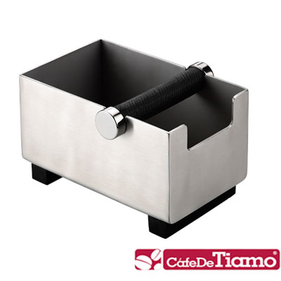 Tiamo 新款長方型不鏽鋼咖啡集渣桶 (BC2404)