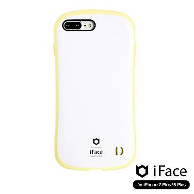 iFace iPhone8/8+ 雙素材吸震抗衝擊手機殼(馬卡龍)-白/黃