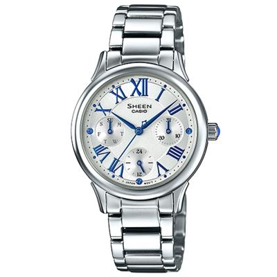 SHEEN 羅馬時刻施華洛世奇時尚佳人腕錶(SHE-3049D-7)-白/30.5mm