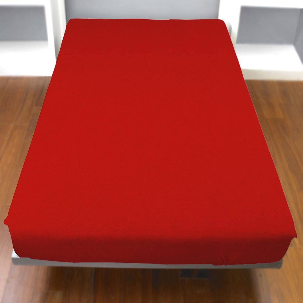 《YVONNE》雙人純棉床包 (大紅)