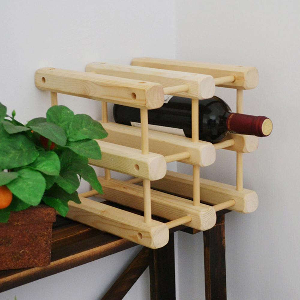 日式松木創意併接造型酒架
