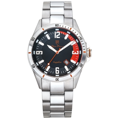 Olym Pianus奧柏表 酷炫時尚運動造型石英腕錶-紅/42mm