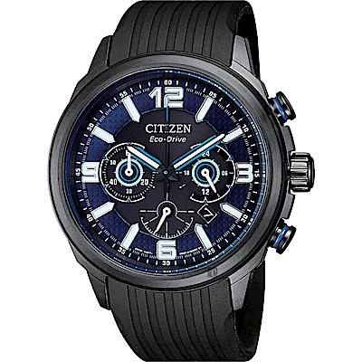 CITIZEN星辰 限量光動能賽車計時手錶(CA4385-12E)-藍x黑/43mm