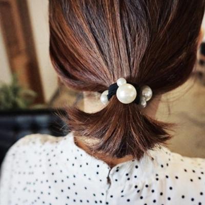 梨花HaNA-純粹並優雅著韓國大小珍珠髮圈