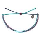 Pura Vida 美國手工OUT N ABOUT藍白綠色系可調式手鍊衝浪海灘防水手繩