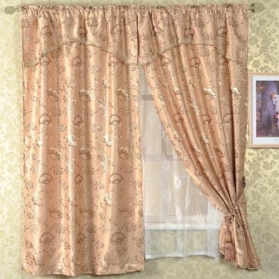 【芸佳】米蘭三層窗簾195*165(米黃)