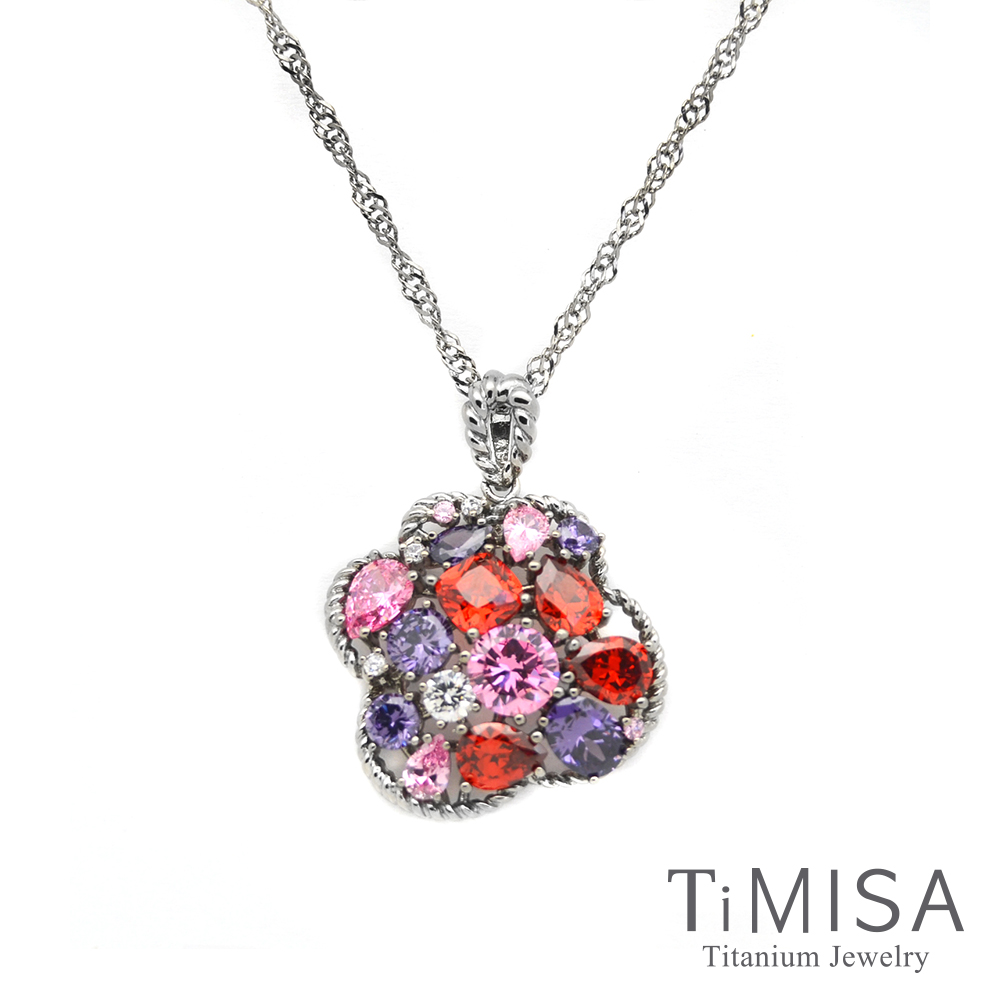 TiMISA 絢麗典藏-朵兒 純鈦項鍊(10E)