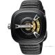 SEVENFRIDAY M2 設計師工藝自動上鍊機械錶-黑/47mm product thumbnail 1