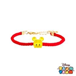 Disney迪士尼TSUM TSUM系列金飾 黃金編織手鍊-米奇款