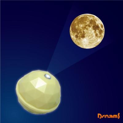 日本 Dreams Projector Dome 銀河系投影球-米黃/月球