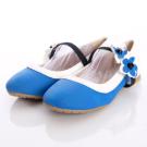 HABU韓式童鞋-花朵時尚宴會款HA37-BL藍(中大童段)新