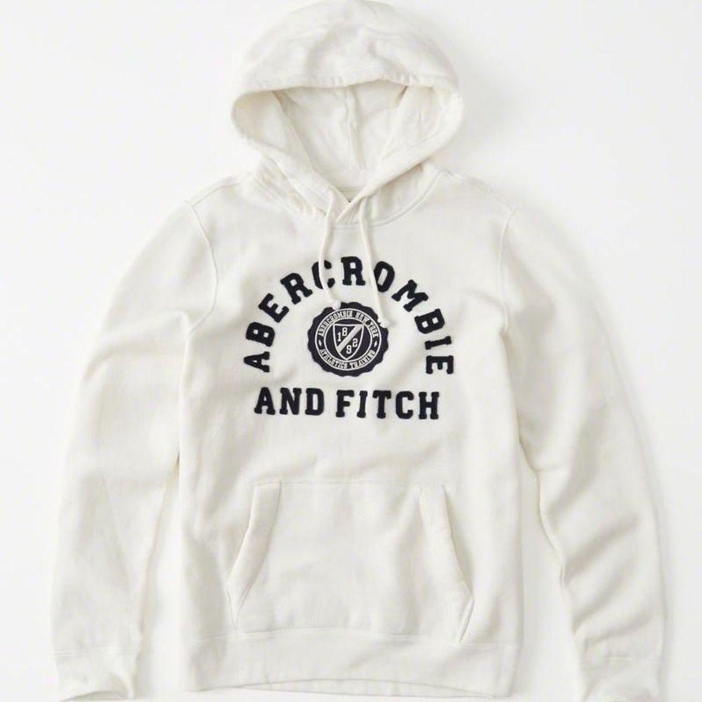 AF a&f Abercrombie & Fitch  帽T 白色 0181