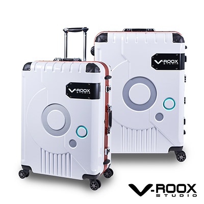 V-ROOX ZERO  28吋 白(紅框)   時尚潮版 撞色太空艙 鋁框行李箱